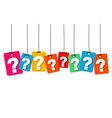colorful hanging cardboard Tags - vector image vector image