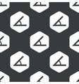 Black hexagon angle pattern vector image