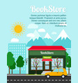 bookstore advertising banner vector image