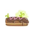 Classic Chocolate Eclair Sweet Pastry Fantasy vector image