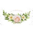 flower wreath bouquet design object element vector image