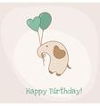 Greeting Birthday Card vector image
