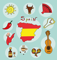 set of national profile of the spain vector image