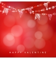 Valentines day greeting card invitation vector image