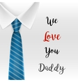 Fathers day Greeting card EPS 10 vector image