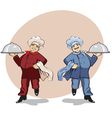 two cooks vector image vector image