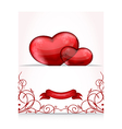 Valentines day letter with hearts vector image vector image