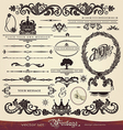 Vintage calligraphy set vector image