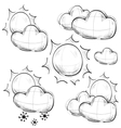 Day weather icons set vector image