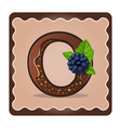 letter o candies chocolate vector image