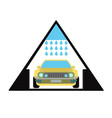 car wash emblem and symbol vector image