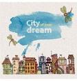decorative sketch of city vector image