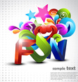fun background vector image
