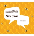 pattern of the bee on honeycombs background for vector image vector image