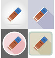 stationery flat icons 15 vector image vector image