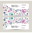 Makeup artist business card Invitation template vector image