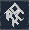 rock lettering vector image