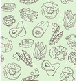 seamless texture with healthy green food vector image