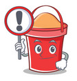 with sign bucket character cartoon style vector image