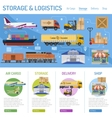 Storage and delivery infographics vector image vector image