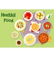 Hearty food icon for menu or recipe design vector image vector image