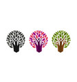 abstract tree and people logo ecology vector image