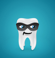 Tooth in mask vector image