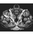 Terrible gorilla athlete vector image