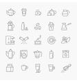 Coffee line icon set vector image vector image
