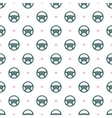Car Steering Wheel Seamless Pattern with Hearts vector image
