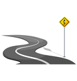 A road with yellow signage vector image