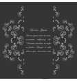 Black and white card design with ornate floral vector image
