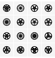 Car rims vector image
