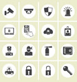 crime world symbols set vector image