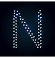 Gems A letter Shiny diamond font vector image