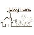 happy family and home vector image