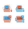 Online mentorship concept logo Online training vector image