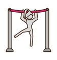 pictogram girl artistic gymnastic on bar sport vector image