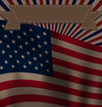 Ribbon and Flags USA Waving Wind for Independence vector image