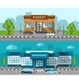 Shop Flat Banner Set vector image