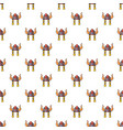 viking helmet pattern seamless vector image