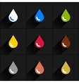 Drop icon set in simple flat style vector image