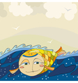 Gold Fish Sea vector image vector image