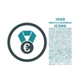 Euro Champion Medal Rounded Icon with 1000 Bonus vector image