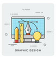 Graphic design drawing engineering thin line vector image