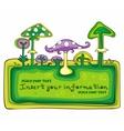 mushroom frame vector image vector image
