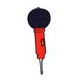 comic cartoon microphone vector image