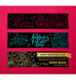 Set of linear Valentines banners vector image