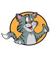 cartoon cat thumbs up vector image