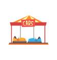 cartoon of bumper cars attraction vector image